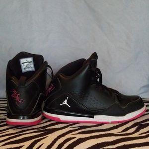 Air Jordan Black/Pink Hi-Tops